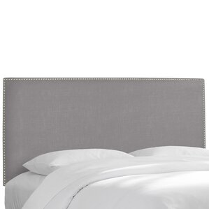 Nail Button Upholstered Panel Headboard by Skyline Furniture