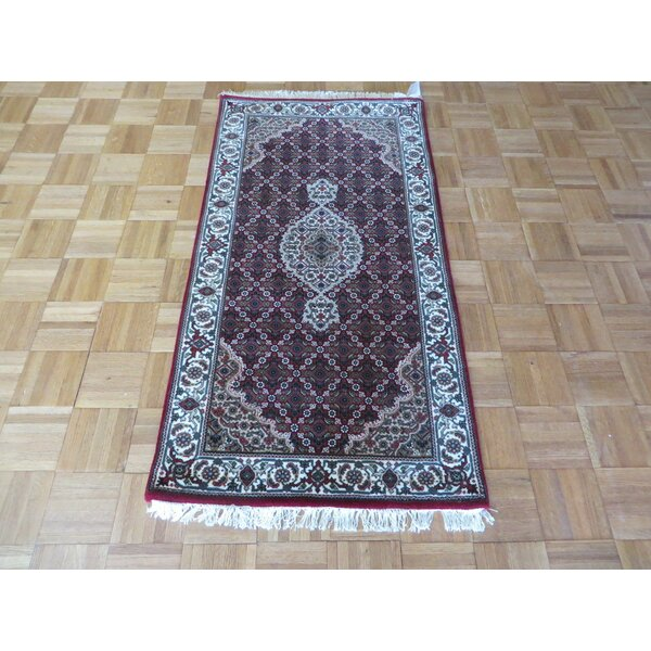 One-of-a-Kind Raiden Persian Hand-Knotted Wool Red Area Rug by Astoria Grand