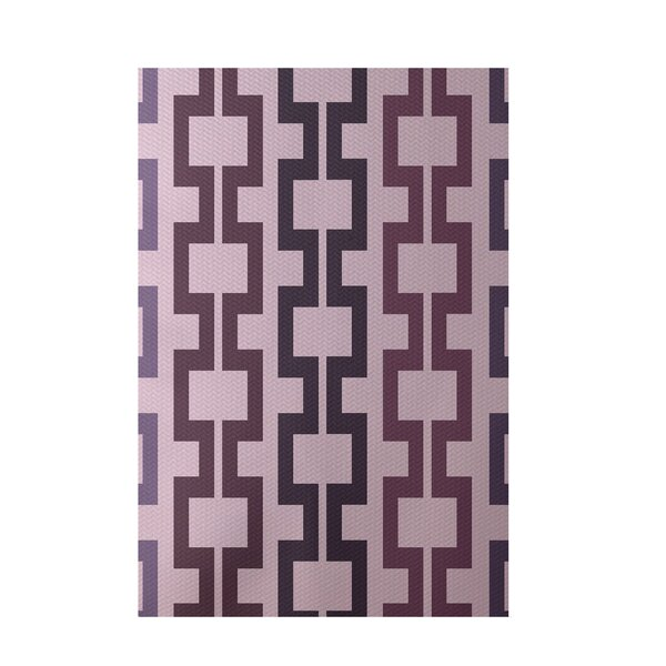 Geometric Pink Indoor/Outdoor Area Rug by e by design