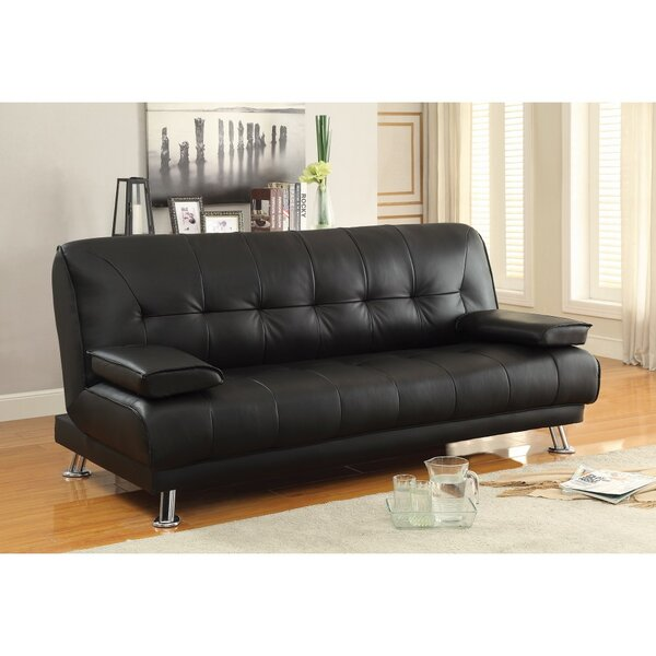 Schupple Faux Leather Convertible Sofa by Latitude Run