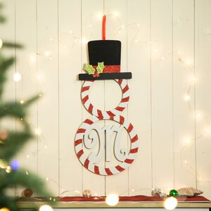 Monogram Snowman Hanging Decor -M