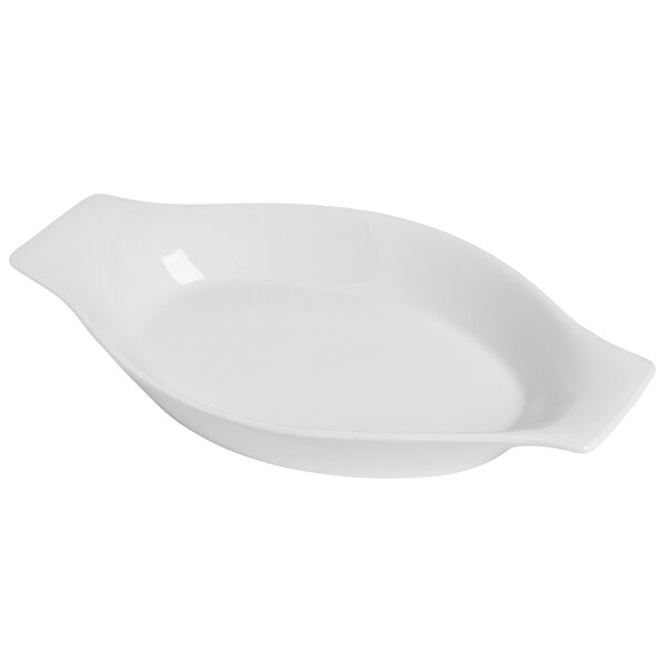 Modern Porcelain Oval Au Gratin Dish by Honey Can Do