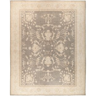Shop for One-of-a-Kind Dia Hand Knotted Wool Gray Area Rug By Isabelline