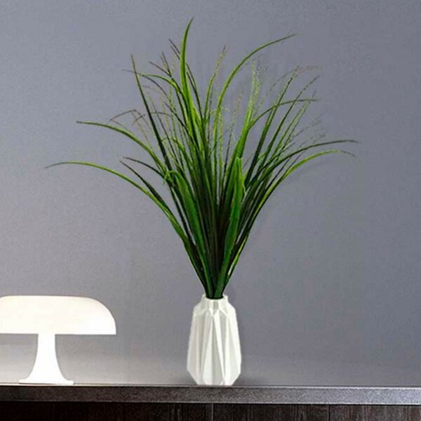 Artificial Indoor/Outdoor Décor Desktop Foliage Grass in Decorative Vase by George Oliver