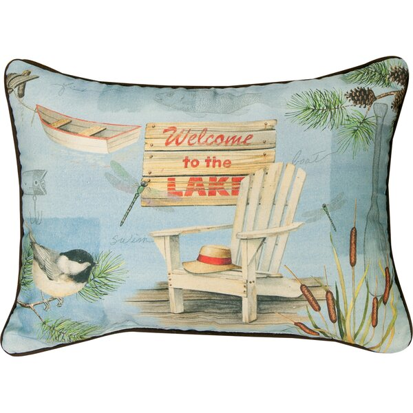 Welcome to the Lake Knife Edge Cotton Lumber Pillow by Manual Woodworkers & Weavers