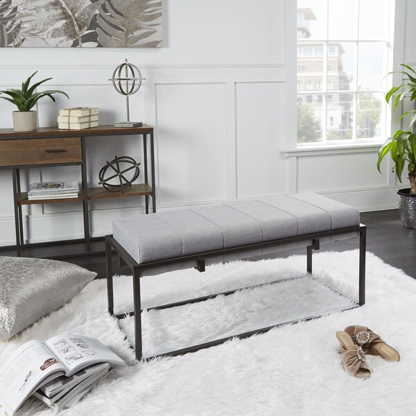 Litchfield Upholstered Bench by Everly Quinn