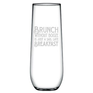 Brunch Without Booz 8.5 oz. Champagne Flute (Set of 4)