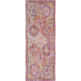 kahina vintage distressed oriental rectangle pink area rug