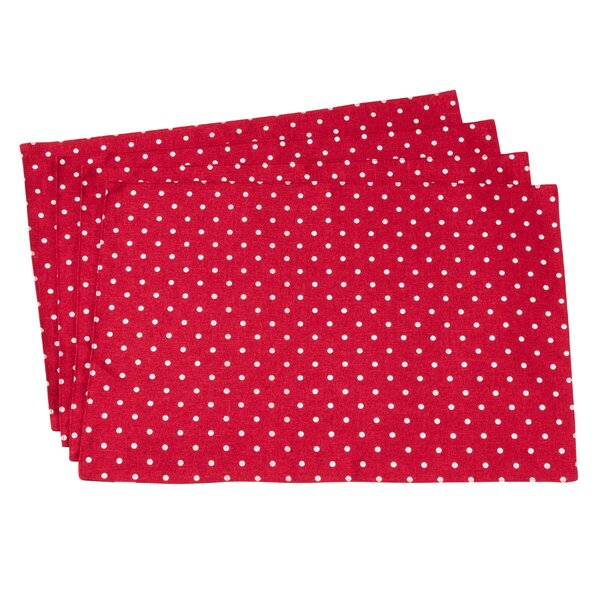 Milaca Polka Dot 19 Placemat (Set of 4) by Latitude Run