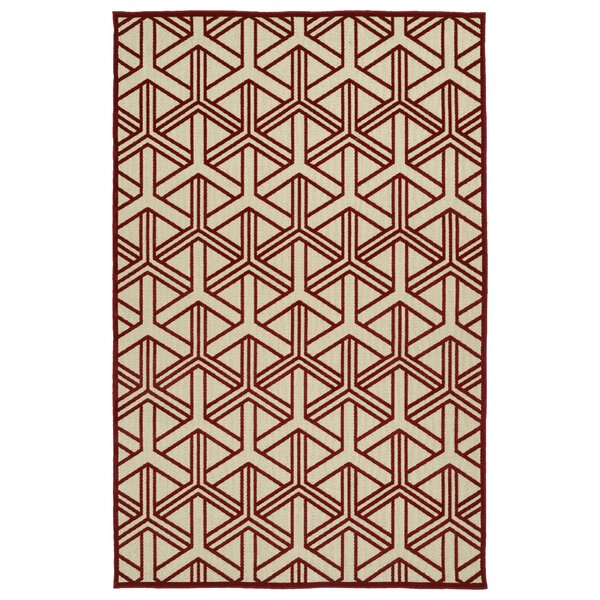Alterson Red Indoor/Outdoor Area Rug by Langley Street