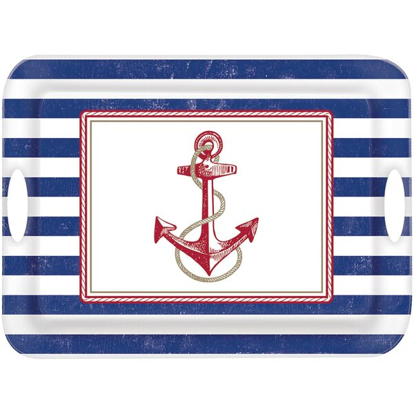Summer Nautical Serving Tray by Amscan
