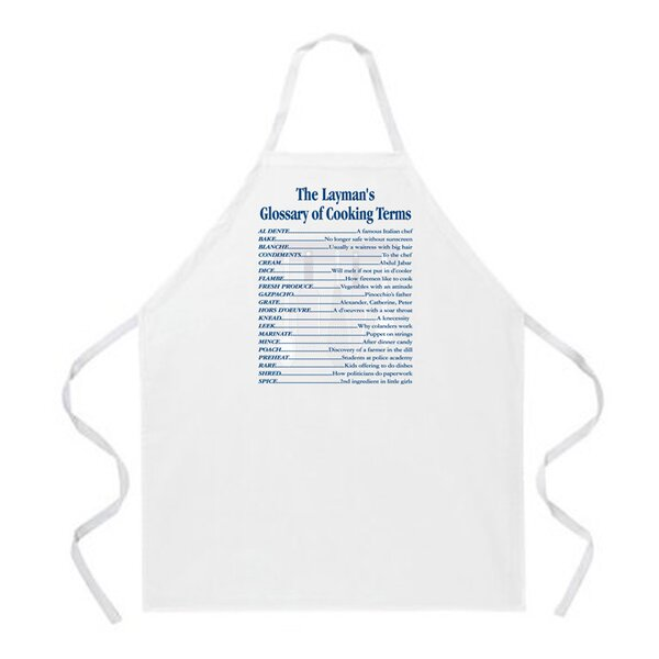 Cooking Terms Apron by Attitude Aprons by L.A. Imprints
