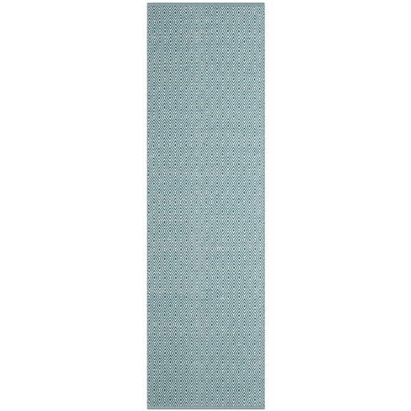 Shevchenko Place Hand-Woven Ivory/Turquoise Area Rug by Wrought Studio