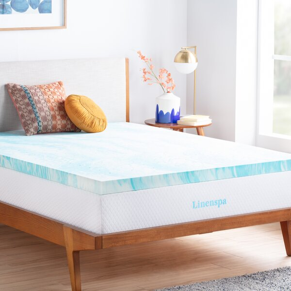 3 Gel Memory Foam Mattress Topper by Linenspa