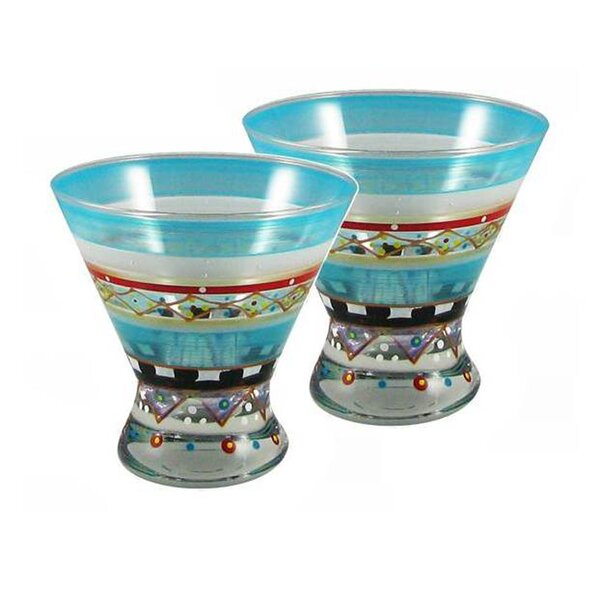 Mosaic Carnival Cosmopolitan (Set of 2) by Golden Hill Studio