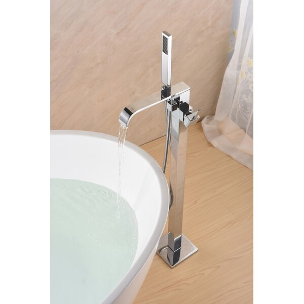 SevenFalls Single Handle Floor Mounted Freestanding Tub Filler With Handshower By Eisen Home