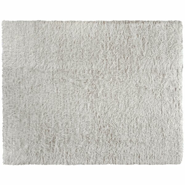 One-of-a-Kind Moroccan Hand-Knotted Ivory 10' x 12'4 Wool Area Rug