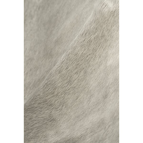 Abhinav Hand-Woven Cowhide Natural/Light Gray Indoor Area Rug  by 17 Stories