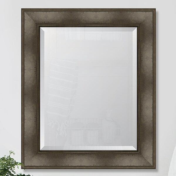 Montecito Charcoal Bark Edge Wall Mirror by Melissa Van Hise