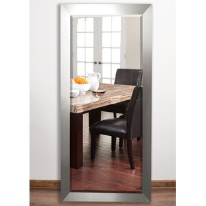 Beveled Brushed Nickel Wall Mirror