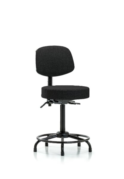 Aylin Round Tube Base Height Adjustable Lab Stool by Symple Stuff