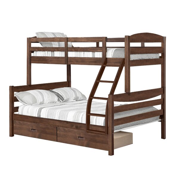 Dendron Twin Over Full Bunk Bed with Drawers by Harriet Bee