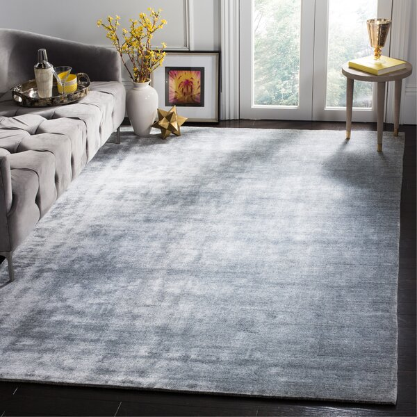 Wald Hand-Woven Light Gray Area Rug by Mercer41