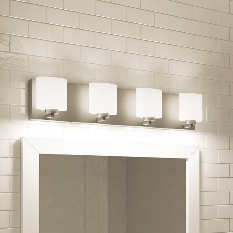 led vanity light bar elegant bathroom vanity jusino 4light led vanity light brayden studio reviews wayfair