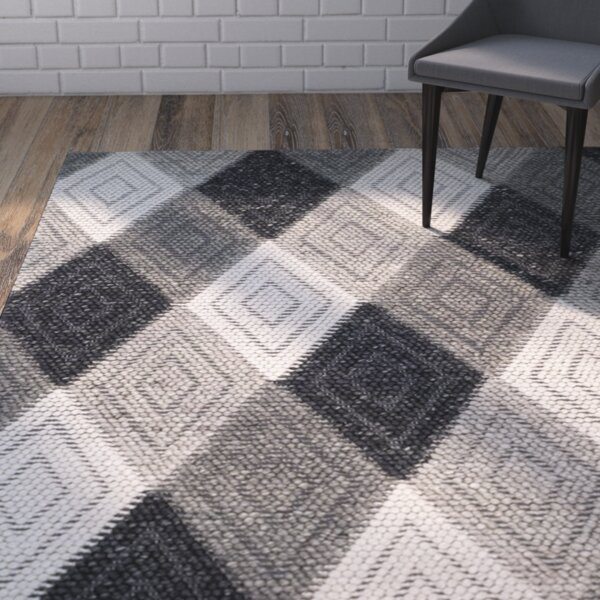 Rohan Hand-Tufted Anthracite Area Rug by Brayden Studio