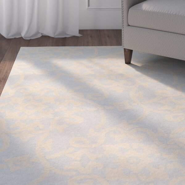 Millwood Hand-Tufted Pale Blue/Butter Area Rug by Charlton Home
