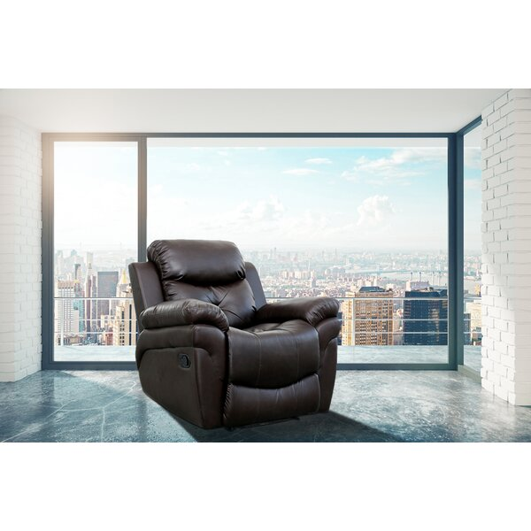 Surprising Full Grain Leather Recliner Wayfair Ncnpc Chair Design For Home Ncnpcorg