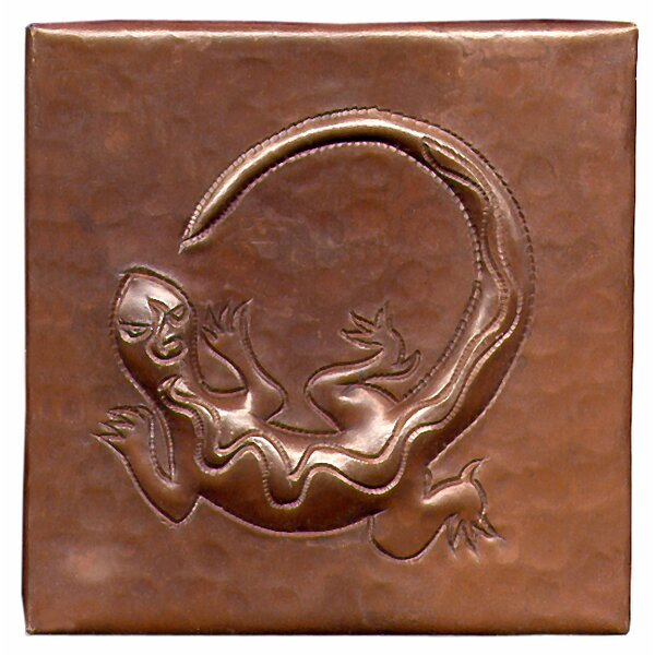 Gecko 4 x 4 Copper Tile in Dark Copper by D'Vontz