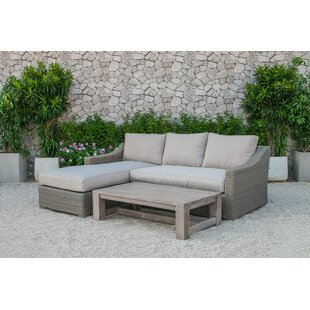 Naperville 3 Piece Sectional Set with Cushions By Darby Home Co