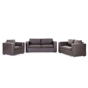 Mojokerto Leather 3 Piece Living Room Set