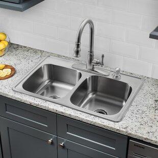 Steel Kitchen Sink Stainless steel kitchen sinks youll love wayfair save to idea board workwithnaturefo