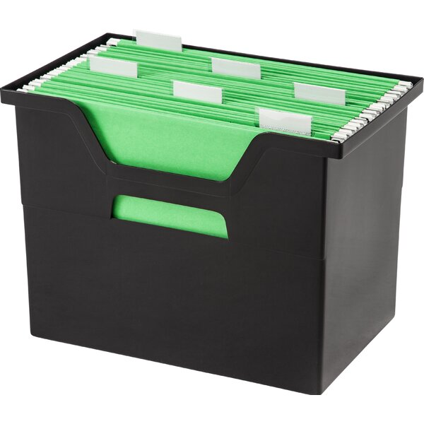 Large Desktop File Box (Set of 4) by IRIS USA, Inc.