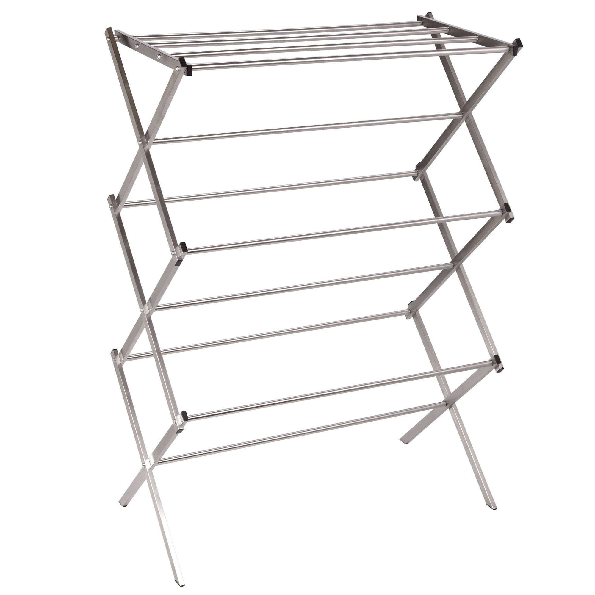 Household Essentials Stainless Steel Folding X-Frame Clothes Dryer ...