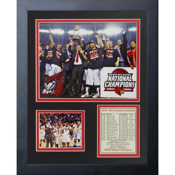 2013 Louisville Cardinals Champions Framed Memorabilia by Legends Never Die