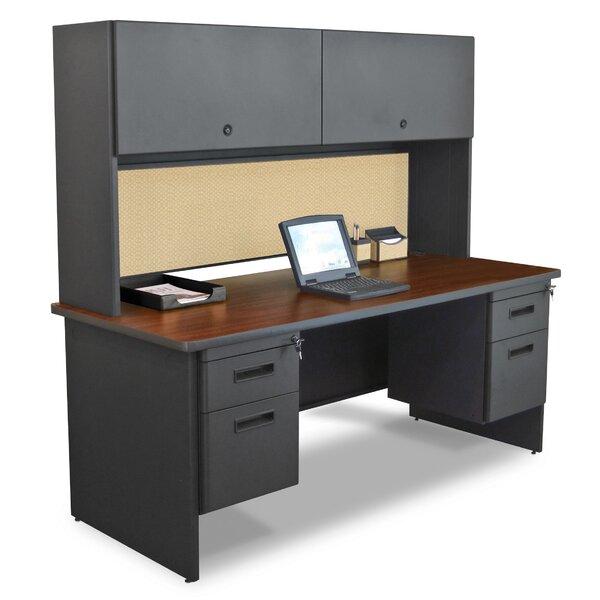 Crivello Door Computer Executive Desk with Hutch