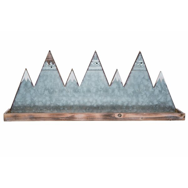 Dhairya Wood Spring Mountain Wall Shelf by Union Rustic
