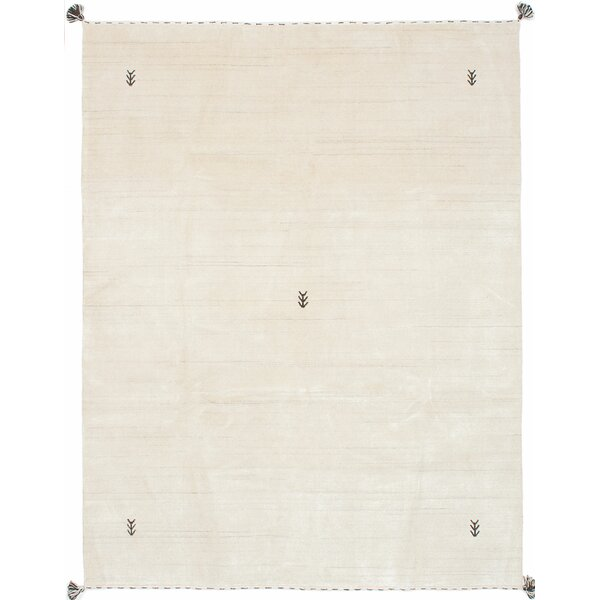 Campos Hand-Knotted Cream Area Rug by Union Rustic