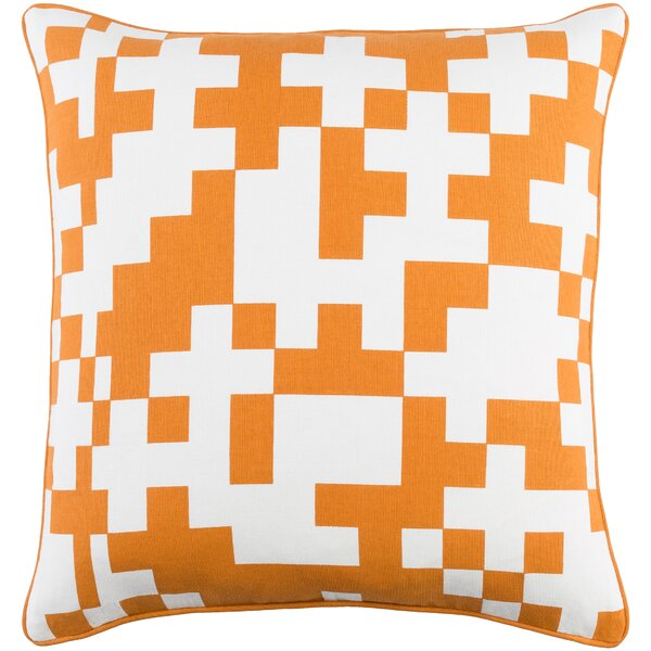 Antonia Contemporary Cotton Throw Pillow by Langley Street