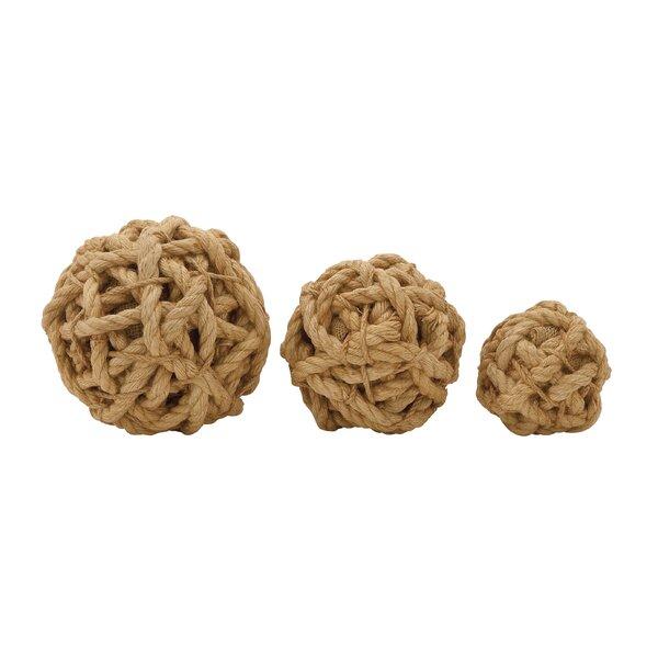 3 Piece Decorative Jute Foam Ball Set by Cole & Grey