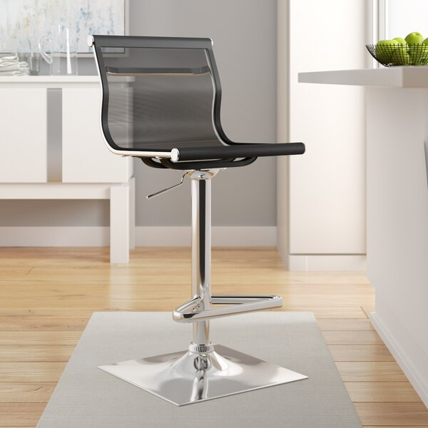 Bartow Adjustable Height Swivel Bar Stool by Wade