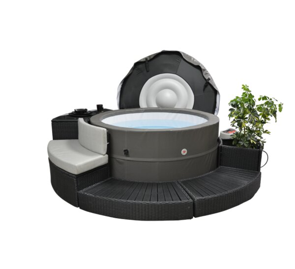 Swift Current V2 5-Person 125-Jet Plug and Play Spa with Surround Furniture Package by Canadian Spa Co