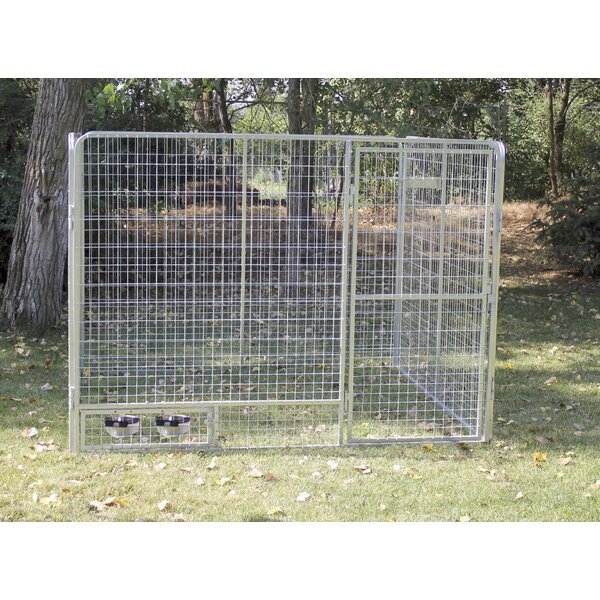 Gabriella Modular Complete Galvanized Steel Yard Kennel by Tucker Murphy Pet