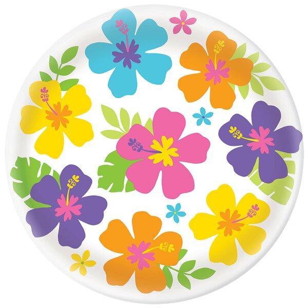 Summer Hibiscus Melamine Platter by Amscan
