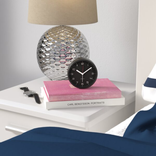 Rounded Numbers Alarm Clock by Zipcode Design