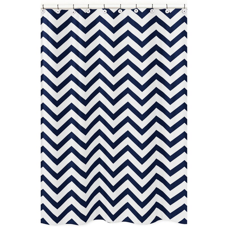 Chevron Shower Curtains sweet jojo designs chevron shower curtain & reviews | wayfair