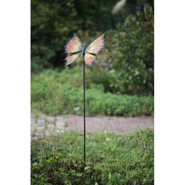 Metal Butterfly Garden Stake by Sunjoy